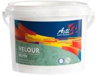 Велюр (Velour) «Асти» СЕРЕБРО Перламутровая краска с эффектом велюра