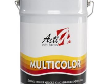 Мультиколор (Multicolor) «АСТИ» Декор. Краска для внутр. и внеш. работ