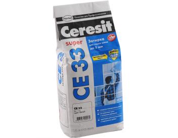 Белая затирка «Ceresit» CE 33 № 01, 2 кг