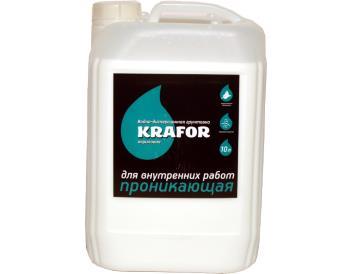 Грунтовка проникающая для внутренних работ Крафор, Krafor