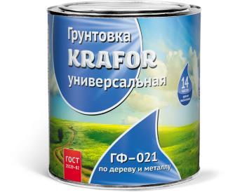 Грунт ГФ-021 красно-коричневый 1,8 кг, «Krafor» (Крафор)