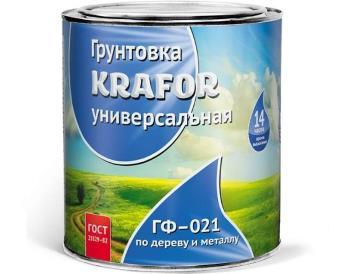 Грунт ГФ-021 серый 1,8 кг, «Krafor» (Крафор)