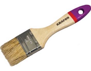 Кисть плоская «KRAFOR» № 0,75, деревянная ручка