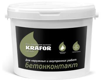 Грунтовка бетонконтакт водно-дисперсионная акриловая KRAFOR