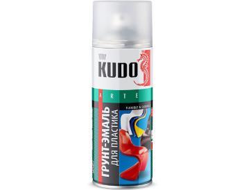 Грунт-эмаль для пластика белая 520 мл, «KUDO»