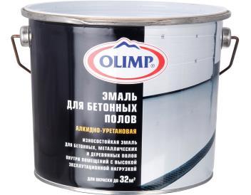 Эмаль для бетон. и деревянных полов белая, 2,7 л «OLIMP»
