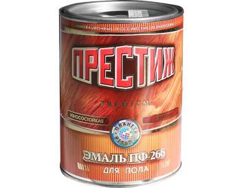 Эмаль желто-коричневая ПФ-266 0,9 кг, «Престиж»