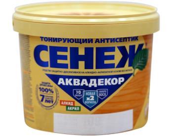 Декоративный антисептик древесины бесцветный алкид-аквадекор «СЕНЕЖ»