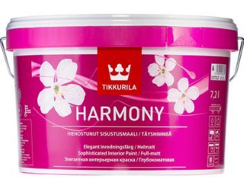 Harmony ( ГАРМОНИЯ) TIKKURILA, краска акрилатно латексная, совершенно матовая с бархатным эффектом