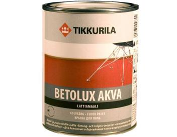 Краска «Бетолюкс-Аква» для пола акрилатно-уретановая серая 9 л, «Tikkurila» (ТИККУРИЛА)