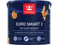 EURO SMART 2 (Евро Смарт 2) TIKKURILA, интерьерная краска для стен и потолка